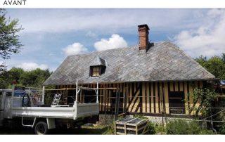 couverture lisieux, toit ,ardoises, normandie