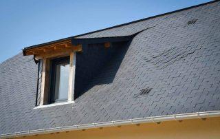 fenêtre lisieux, toit, maison, ardoises, normandie