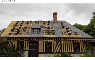 couverture calvados, toit, ardoises, normandie