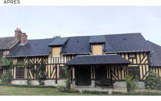 toiture lisieux, ardoises, pays d'auge, normandie